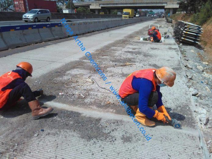 perbaikan rigid jalan tol