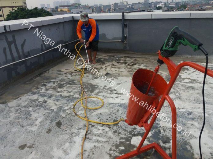 mengatasi kebocoran atap beton